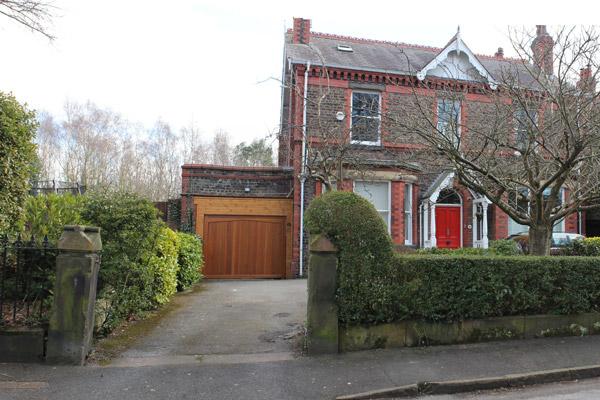 Cressington Park, Liverpool, front garden, landscaping, planning application, driveway, garden design, before photo