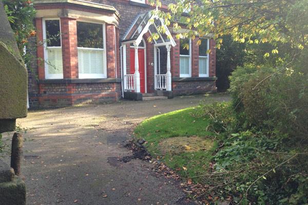 Cressington Park, Liverpool, front garden, landscaping, planning application, driveway, garden design, tarmac surfacing