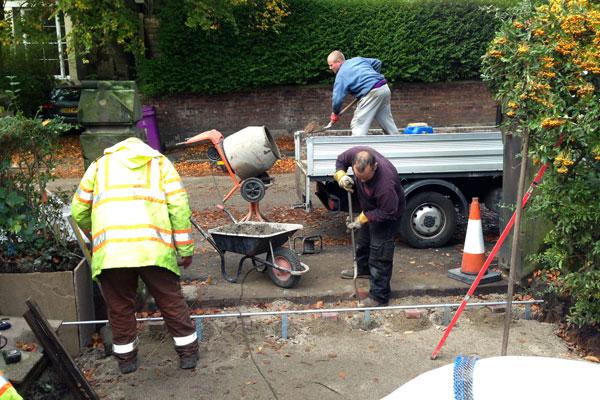 Cressington Park, Liverpool, front garden, landscaping, planning application, driveway, garden design, landscape contractor installing gates
