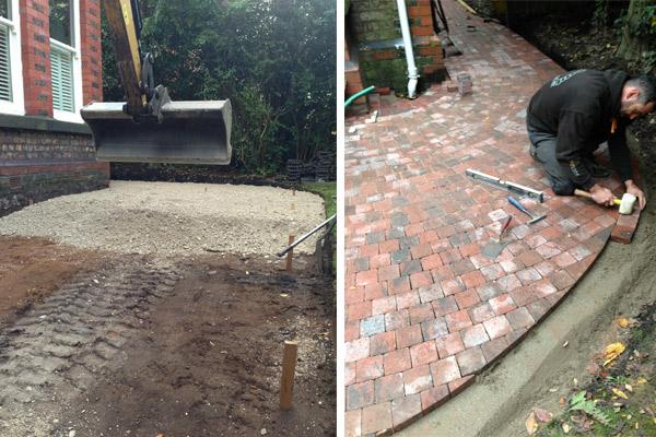 Cressington Park, Liverpool, front garden, landscaping, planning application, driveway, garden design, Marshalls Drivesett Deco block paving