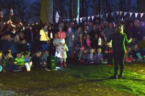 Performance of Midsummer Nights Dream in Dam Wood at the opening of Brooks Way community footpath